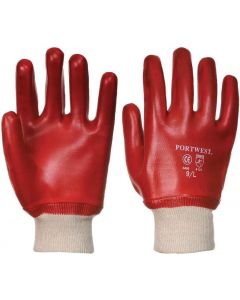 A400 PVC Knitwrist -Red-Pack 12-XL