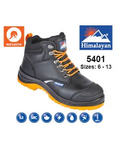 5401 Himalayan Black Leather Reflecto Safety Boot