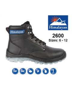 2600 Himalayan Black Leather Safety Ankle Boot