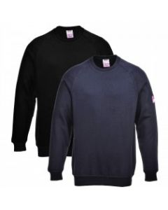 FR12 Flame Resistant Anti-Static Long Sleeve Sweatshirt