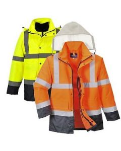 S471 Hi-Vis 4in1 Contrast Traffic Jacket