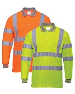 S277 Hi-Vis Long Sleeved Polo