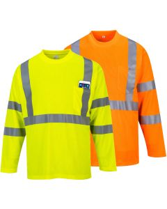 S191 Hi-Vis Long Sleeved Pocket T-Shirt